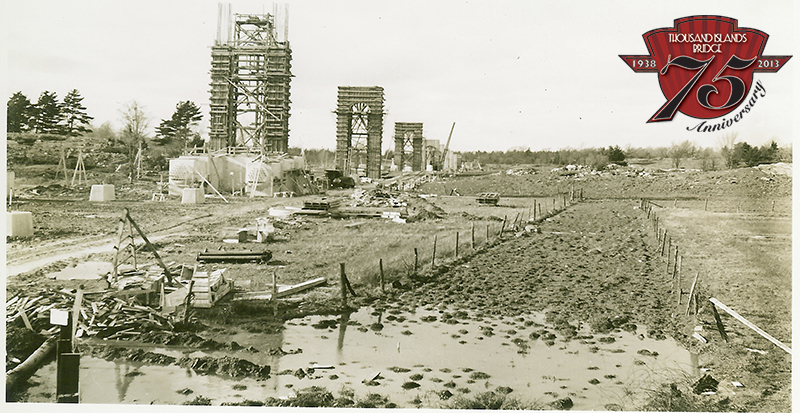 Construction of the US Span of the Thousand Islands Bridge System