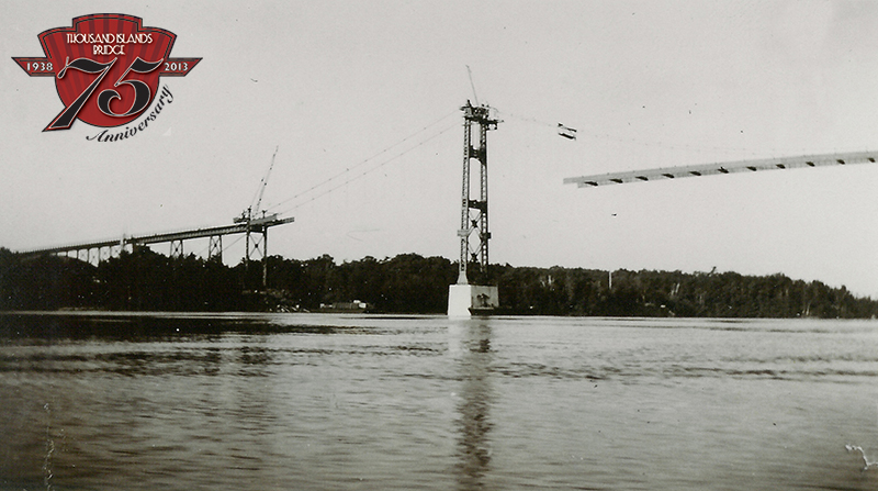 Construction of the Canadian Bridge in 1937-38.