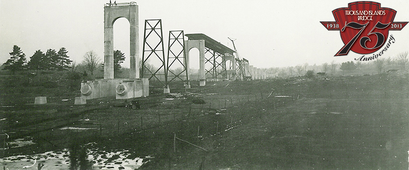 Construction of the US Crossing in 1937.
