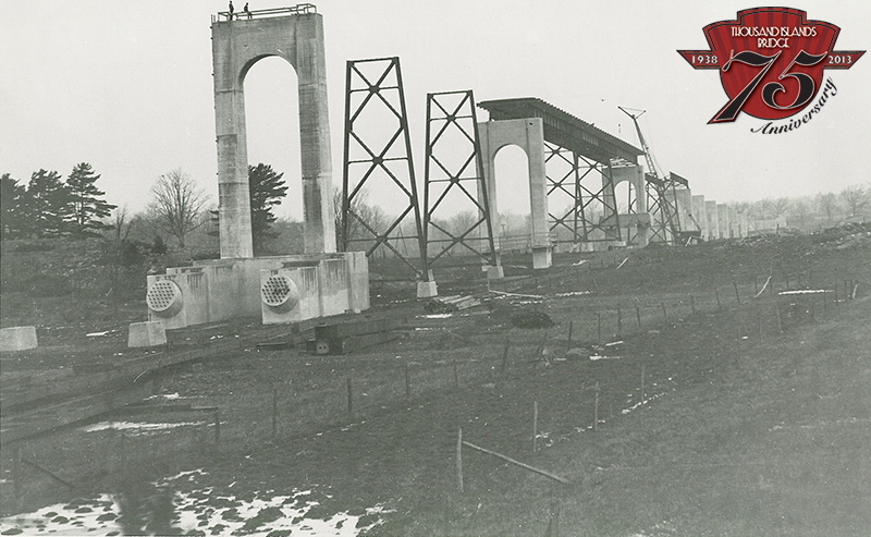 Construction of the US Span in 1937.