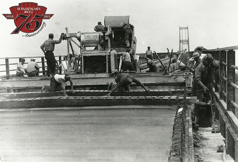 Installation of the US Span Bridge decking.