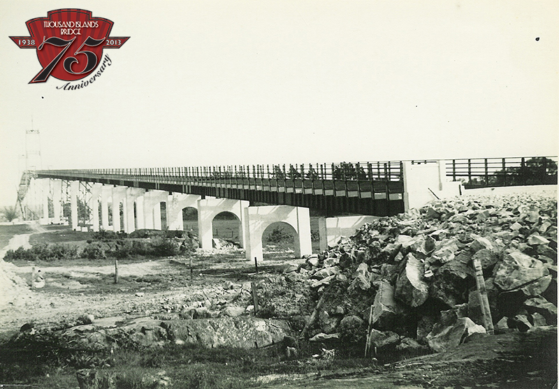 Pier construction of the US Bridge in 1938.