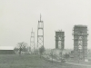 Construction of the US Span main Towers in 1937.